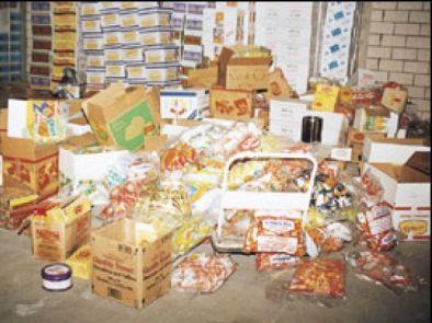 مواد غذائية غير صالحة للاستهلاك