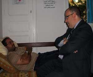 سمير ديلو خلال زيارته نبيل جريدات