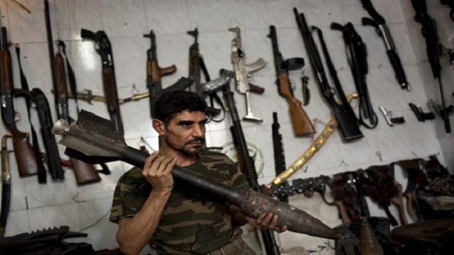 SYRIA-CONFLICT-ALEPPO-WEAPONS