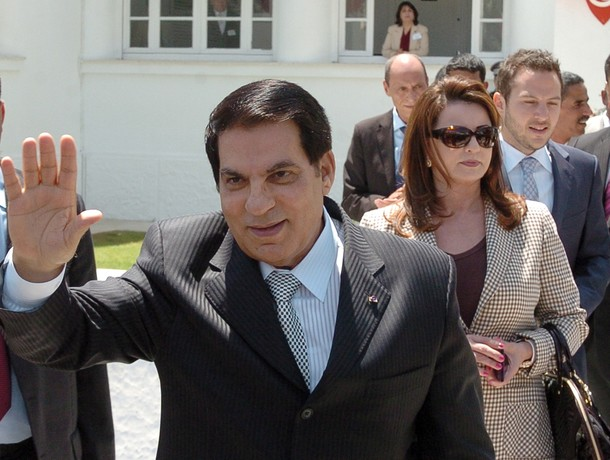 Tunisian President Zine El Abidine Ben A