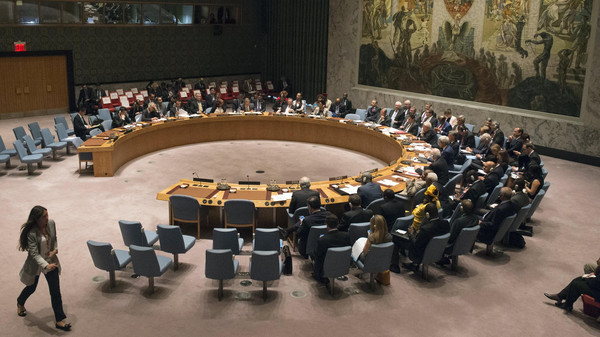 Russian Foreign Minister Lavrov chairs the U.N. Security Council meeting on counter-terrorism during the United Nations General Assembly at the United Nations in Manhattan, New York