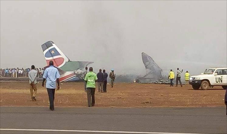 تحطم طائرة جنوب السودان