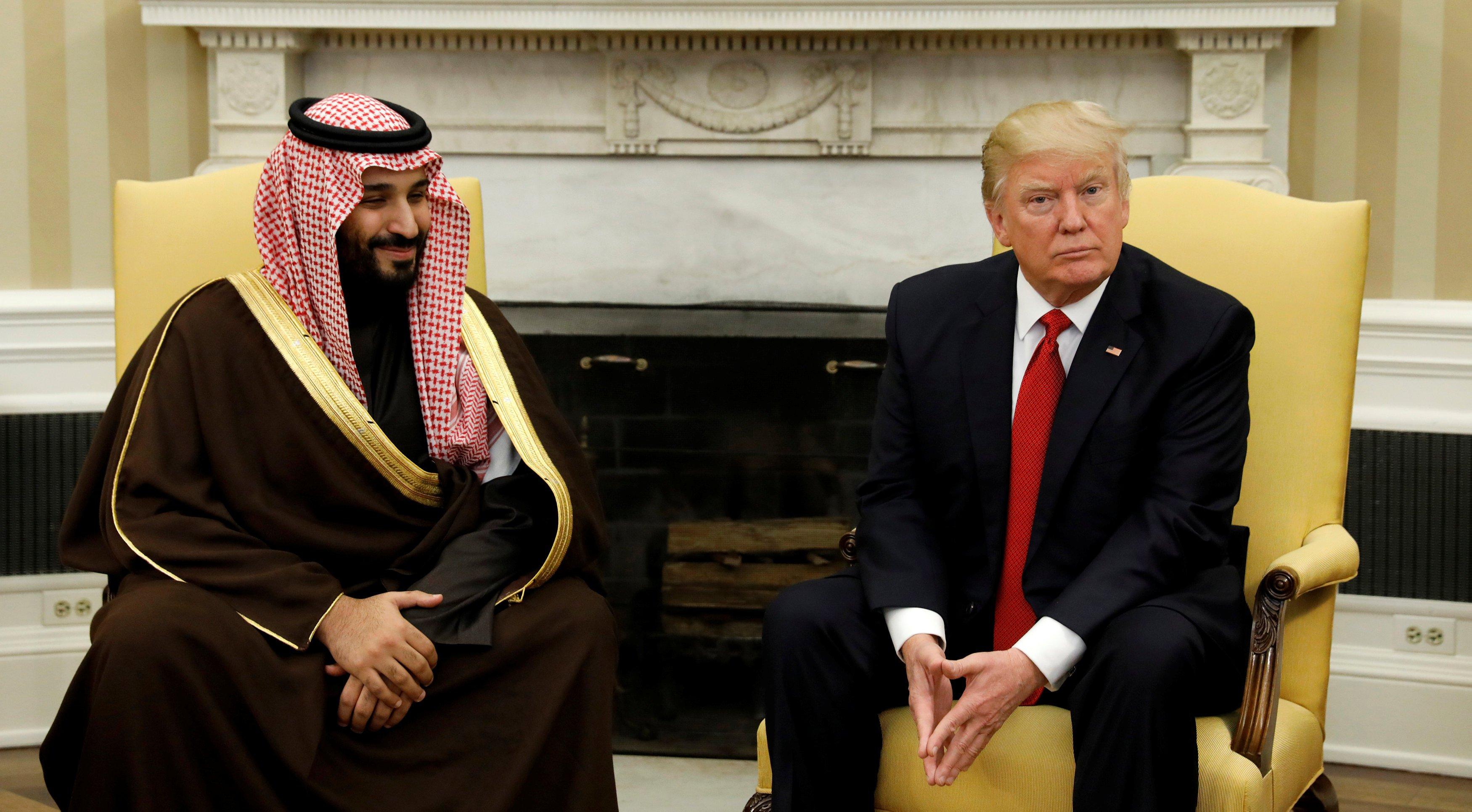 محمد بن سلمان و ترامب